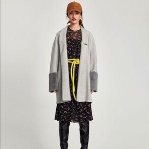 Zara Cardigan with Faux Fur Sleeves